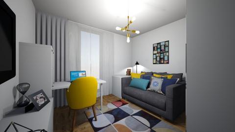 Ap 46_dormitorul mic_copi - Bedroom - by IoanaC
