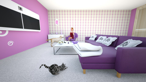 Purple heaven3 - Modern - Living room - by Teti