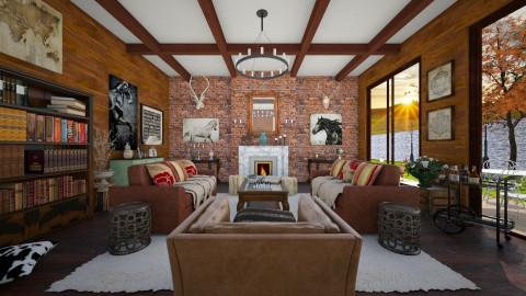 Countryside Living - Rustic - Living room - by DeborahArmelin