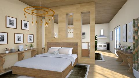 Studio Apartment - Rustic - Bedroom - by millerfam