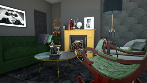 Black  - Living room - by evute44