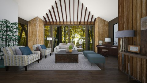 Into the woods - Rustic - Living room - by Lucii