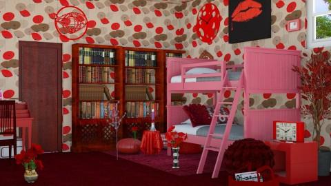 Red Passion - Modern - Bedroom - by InteriorDesigner111