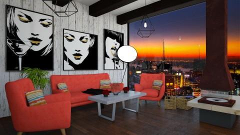 living room  - by alejandramillancarrero