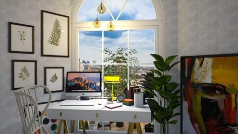 Study Corner - Office - by nonanymous_
