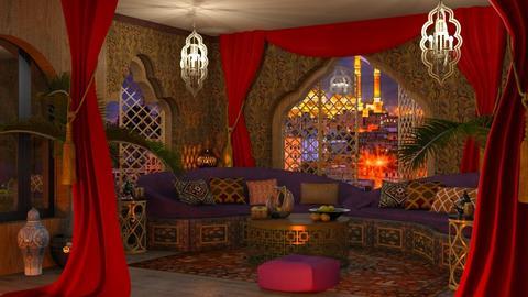 Boho room in Sanaa - by marocco