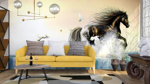 M_Fantasy horse - Living room - by milyca8