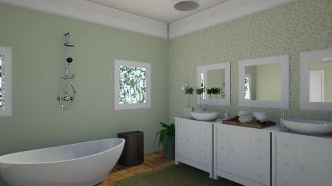Green Bath1 - Bathroom - by marielabatalla