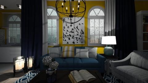 yellow - Living room - by Grigoria Popli