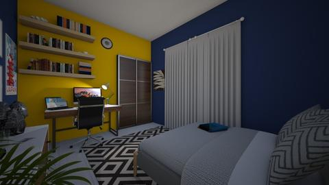 summer and rainy bedrooms - Minimal - Bedroom - by GhaidaTheDesigner