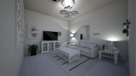 Whiteish - Retro - Living room - by SpicyMcPie