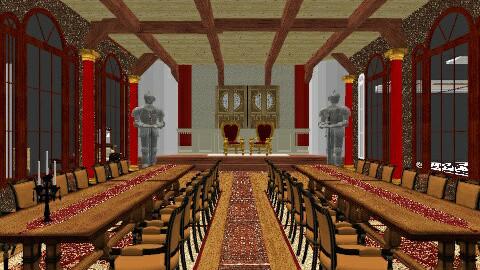 Medival Castle - by silvanasilvana