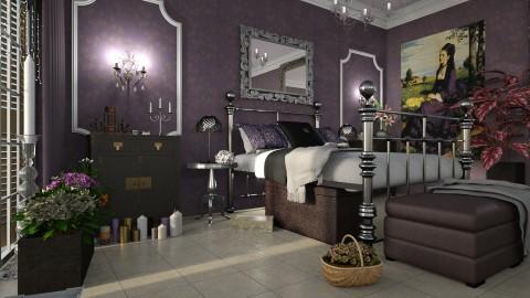 Bedroom_Lila ruhas no - Bedroom - by ZsuzsannaCs