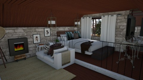 Canadian Holiday House - Rustic - Bedroom - by Brubs Schmitt