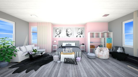 x3 - Bedroom - by kartofelzaglady97