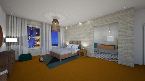 Orange Carpet - Bedroom - by Marion_
