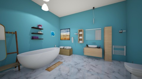 Blue bathroom - Modern - Bathroom - by matthewwXMUf