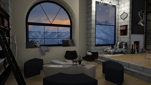 Mountain Chalet - Living room - by mmehling