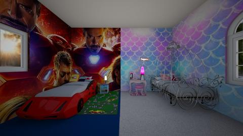 Twin bedroom Boy and Girl - by Cool Coder Girl