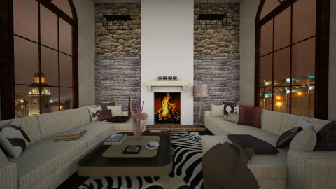 Caramelo ,my first room!! - Modern - Living room - by Ecaterina Harina