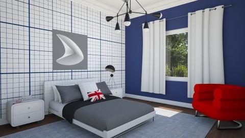 Teen Bedroom Boy 1b - Masculine - Bedroom - by corbu_cat