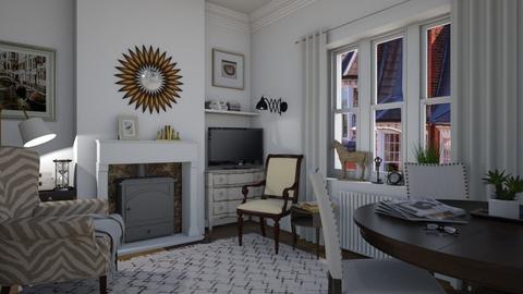 London apt - Living room - by Tuitsi