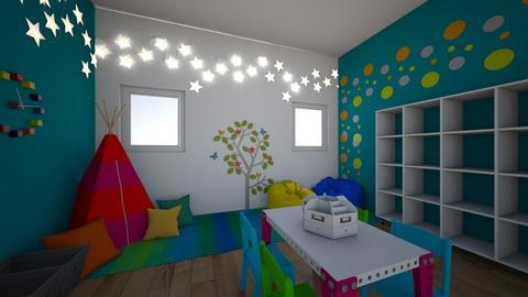 Polychromatic Playroom - Modern - by ryleemiller