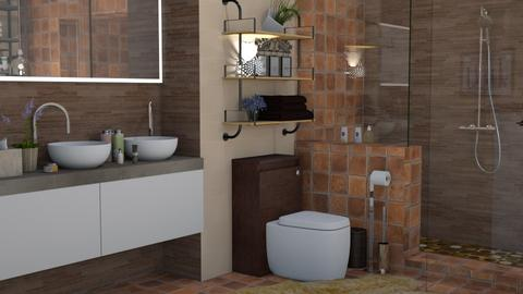 brown bath - Rustic - Bathroom - by snjeskasmjeska