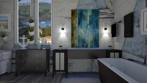 Nautical bathroom - by deemuri_co