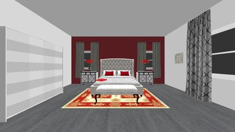 Assignment 2 COLOR THEORY - Glamour - Bedroom - by sbahamon11