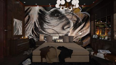 bedroom mural - by anjaam