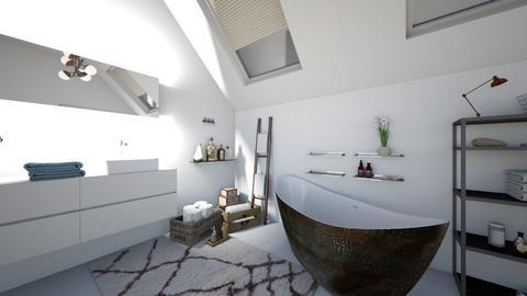 Brown bathroom - Bathroom - by inbal avni