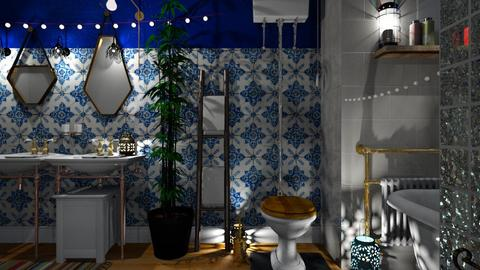 Bohemian Bath  - Bathroom - by Evgeniya Sinenko