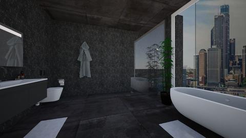 Black Bathroom - Bathroom - by Emily_Beech