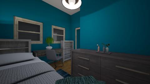 Teal and Grey Kids Room - Kids room - by nv9502