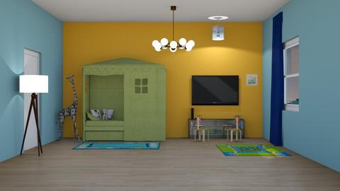 Simple_Boys_Room - Kids room - by RaeCam