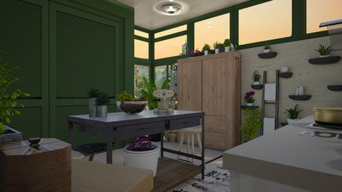 Urban jungle - Modern - Kitchen - by augustmoon