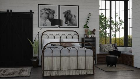 black beauty - Bedroom - by Kelli Mallory
