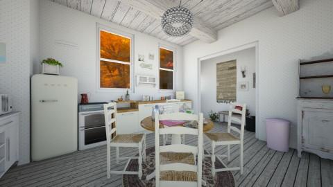 Autumn Cottage Kitchen 1 - Rustic - Kitchen - by PippyLStocking