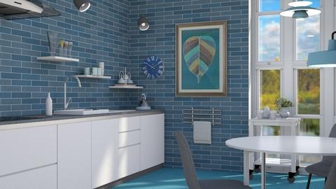 Scandi blue - Modern - Kitchen - by augustmoon