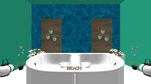 beach - Bathroom - by selina_halland