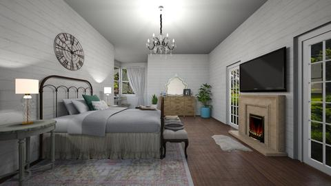 shabby chic bedroom - Bedroom - by Sarah Anjuli