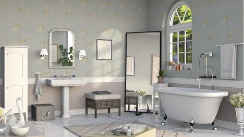 Swan Bathroom - Bathroom - by Sally Simpson