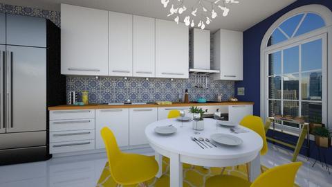 Colourful Kitchen - Kitchen - by waibelmackenzie