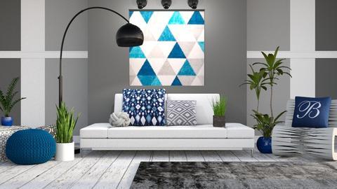 Modern Geometric - Modern - Living room - by millerfam