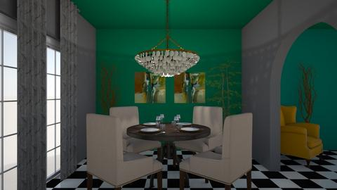 green dining  - Dining room - by fu zi ya