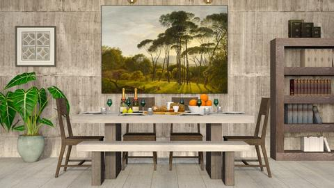 Concrete - Rustic - Dining room - by millerfam