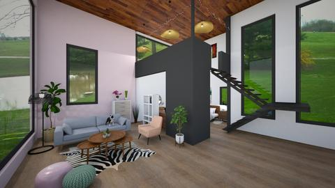 Studio Apartment - Modern - Living room - by pandabearjames