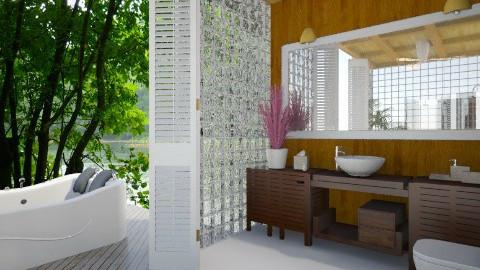 Bathroom in Paradise - Bathroom - by Varsha Liston