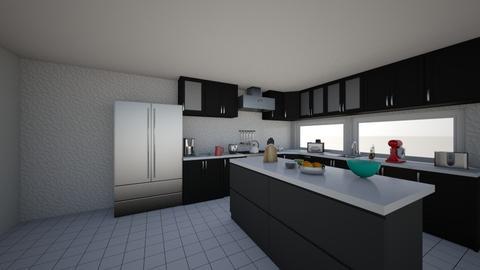 black and white kitchen - by bhavya21